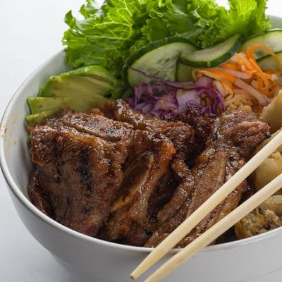 Grilled Marinated Beef Short Ribs Vermicelli Bowl