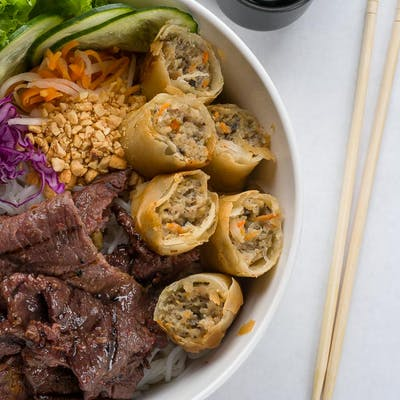 Grilled Marinated Beef & Vermicelli Noodles