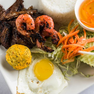 Grilled Beef Short Ribs Rice Plate