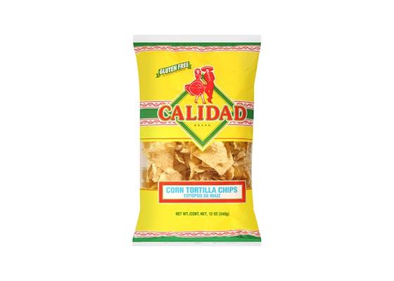 (12 oz.) Calidad Corn Tortilla Chips