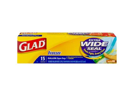 (15 ct.) Glad Gallon Freezer Zipper Bags