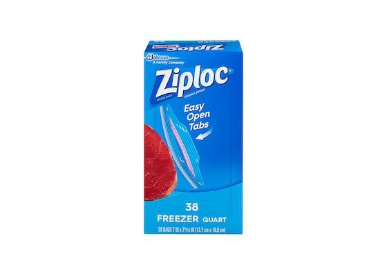 (38 ct.) Ziploc Double Zipper Freezer Quart Bags