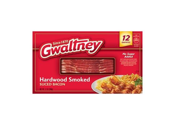 (12 oz.) Gwaltney Hardwood Smoked Sliced Bacon
