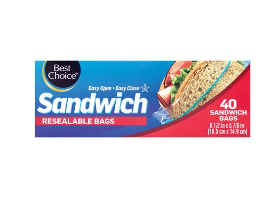 Best Choice Snap & Slide Freezer Bags