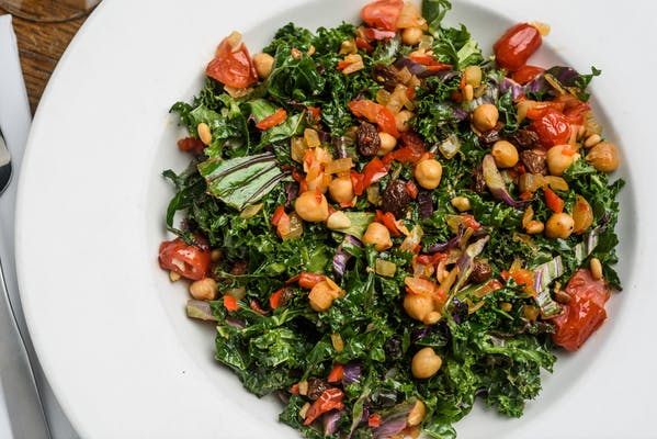Warm Wilted Kale Salad