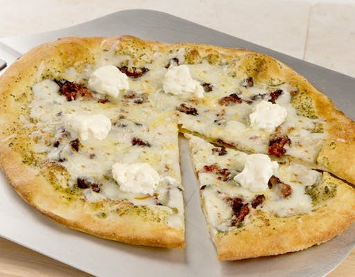 Five-Cheese Pesto Pizza