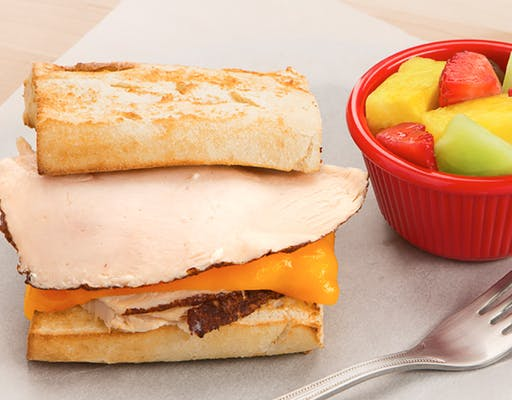 Kid's Toasted Turkey & Cheese