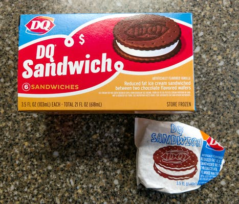 (6) Pack DQ Sandwiches