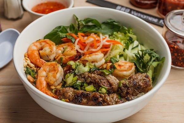 41. Grilled Shrimp & Grilled Skewer Pork Vermicelli Bowl