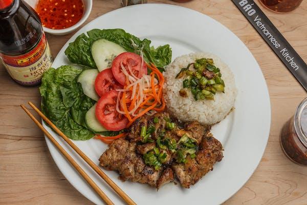 45. Grilled Skewer Pork Rice Plate