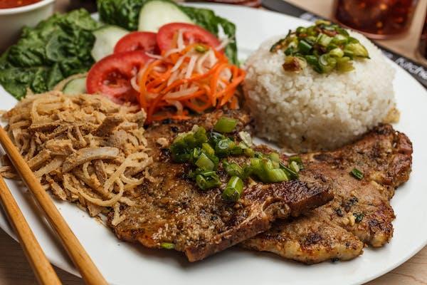 49. Shredded Pork Skin & Pork Chop Rice Plate