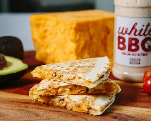 Three Cheese Chicken Quesadilla