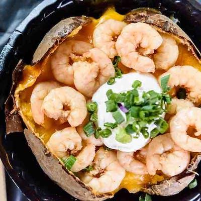 Boiled Shrimp Potato