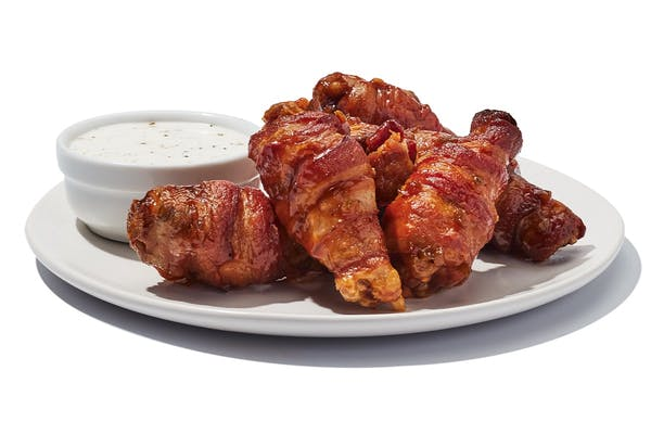 6 Bacon Wrapped Wings