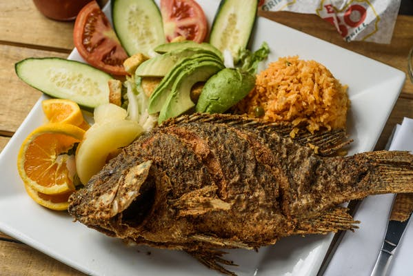 107. Whole Fried Fish (Mojarra)