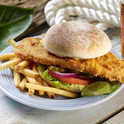 Yuengling Beer-Battered Fish Sandwich