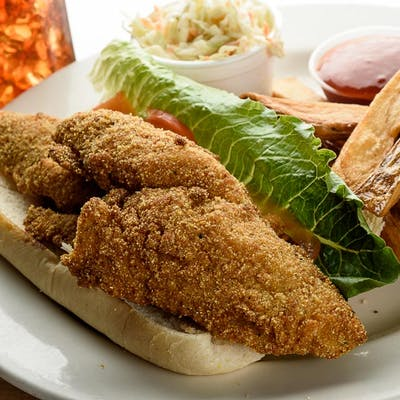 Fried Catfish Po'Boy
