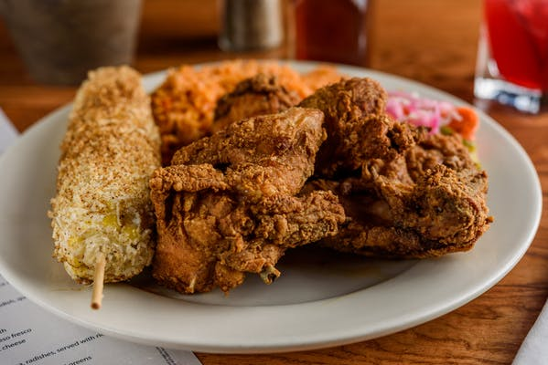 Little Donkey's Famous 1/4 Fried Chicken Plate