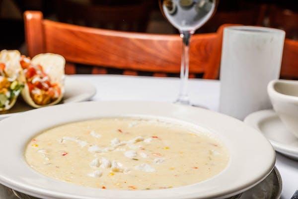 Corn Chowder & Lump Crab Soup