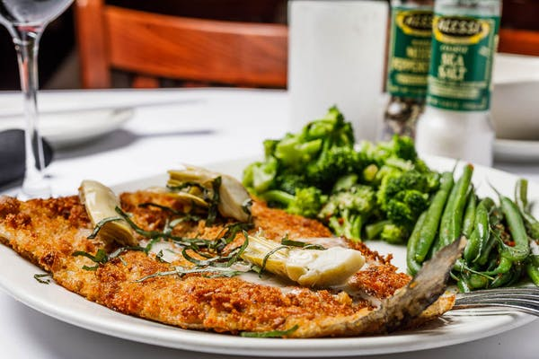 Pecan Parmesan-Crusted Rainbow Trout