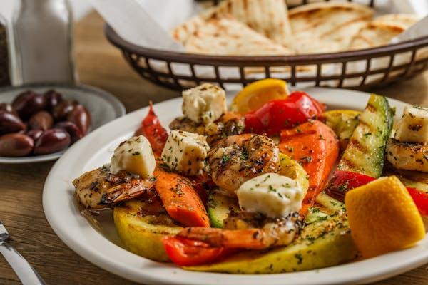 Grilled Shrimp With Feta