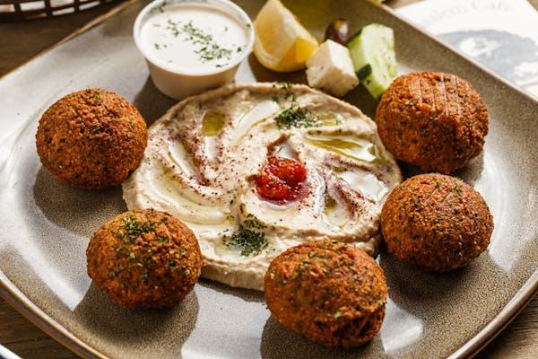 Vegetarian Falafel & Hummus Platter