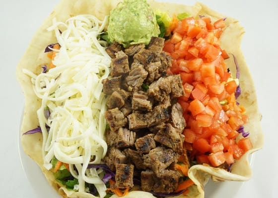 Taco Salad with Fajita Beef