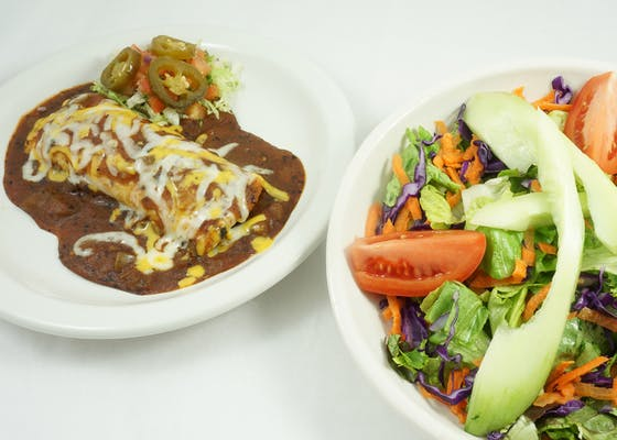 Tex-Mex Salad Combination with Enchilada