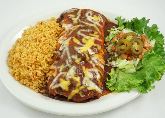 Seasoned Ground Beef Burrito