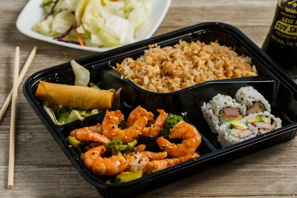 Shrimp Teriyaki Bento Box