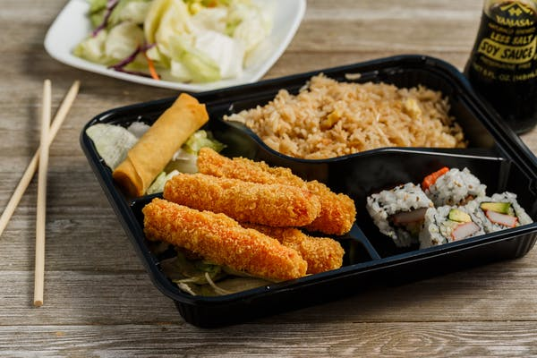Crab Stick Tempura Bento Box
