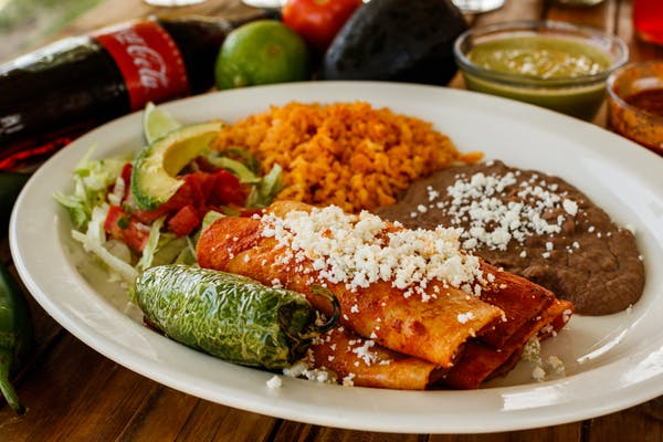 Enchiladas Rojas Plate