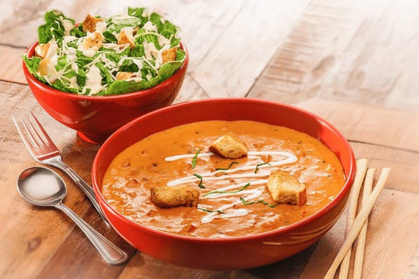 Bowl of Soup and Half Salad or Bowl Fresh Fruit Pairings