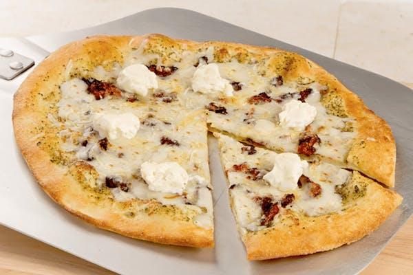 Five Cheese Pesto Pizza