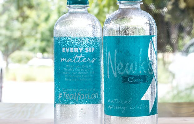 Newk's Cares Bottled Water
