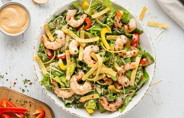 Spicy Southwest Shrimp Caesar Salad