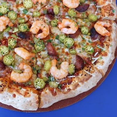 Small Reginelli Gumbo Pizza