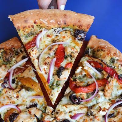 Large Chicken Pesto Pizza