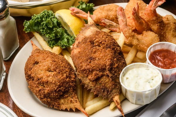 Fried Shrimp & Stuffed Crab