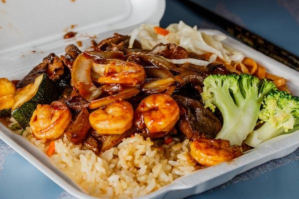 #6 Beef & Shrimp Teriyaki