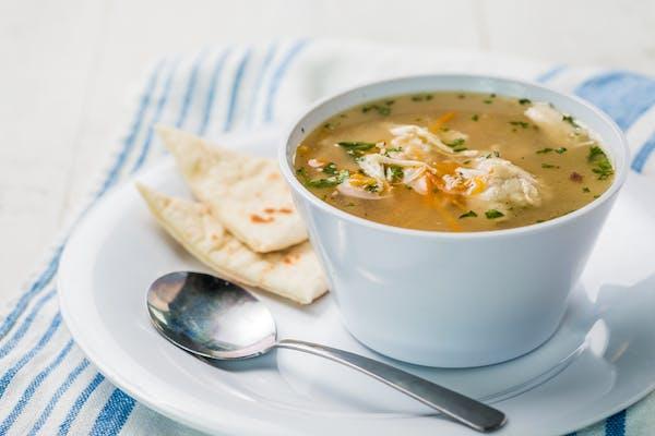 Homemade Greek Lemon Chicken Soup (420 cal.)