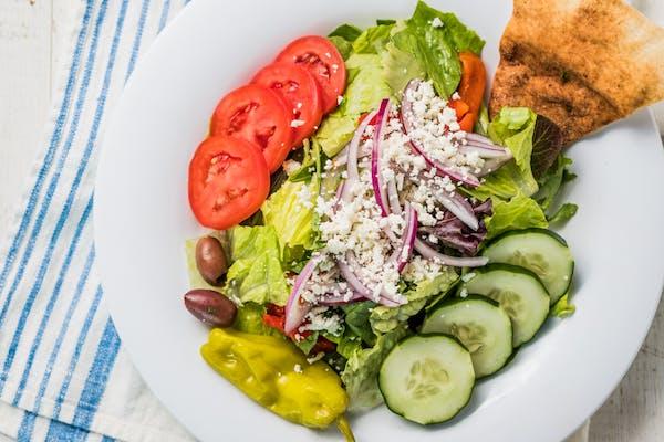 Greek Salad w/ Tilapia (240 cal.)