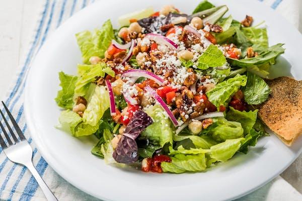 Mediterranean Salad w/ Home-Made Chicken Salad (300 cal.)