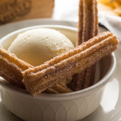 Chops Churro's & Natural Vanilla Ice Cream