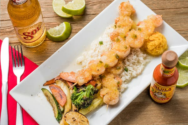 Jalapeño Pineapple Skewered Shrimp