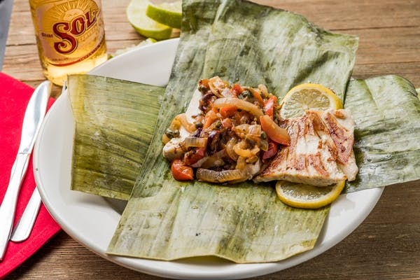 Banana Leaf Wrapped Dorado Veracruz