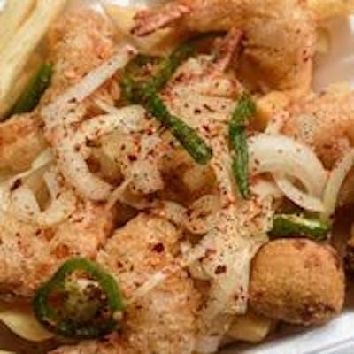 Salt & Pepper Shrimp & Wings Platter