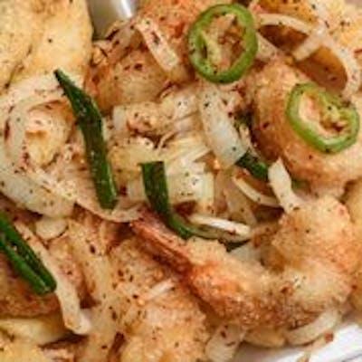 Salt & Pepper Shrimp & Fish Strips Platter