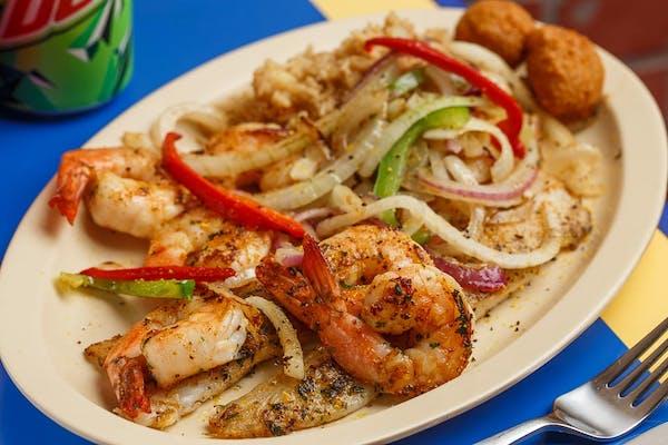 Grilled Shrimp & Fish Platter