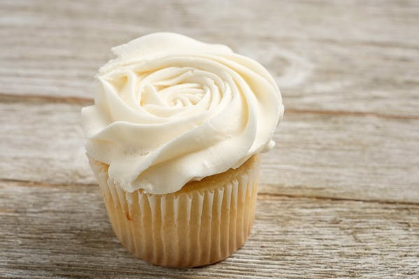 Gourmet Almond Wedding Cupcake